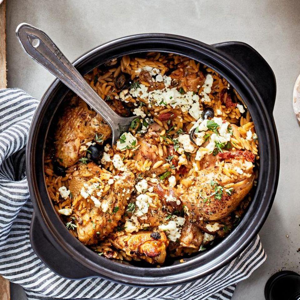 One-Pot-Chicken mit Reisnudeln