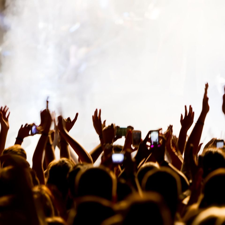 """Verknipt""-Festival: Feiernde Menschenmenge"