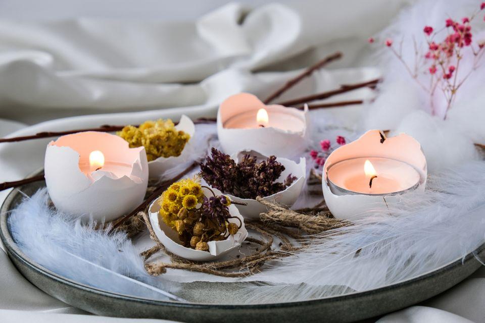 Basteln mit Naturmaterialien: Deko mit Eierschalen