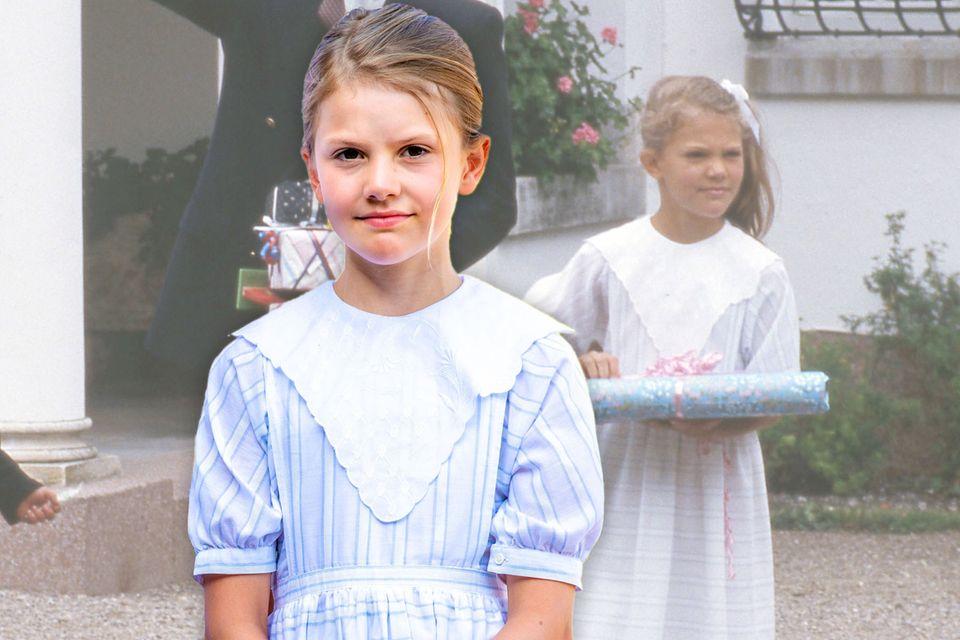 Anlässlich des 44. Geburtstags ihrer Mutter trägt Prinzessin Estelledasselbe Kleid, dasPrinzessin Victoriadamals schon zu ihrem Kindergeburtstag trug.