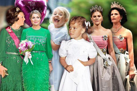 Royals: Sie bedienen sich am Kleiderschrank ihrer Mütter