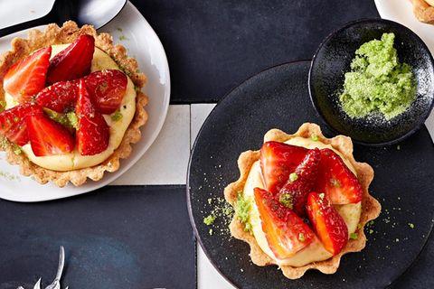 Erdbeer-Tartelettes mit Vanillecreme