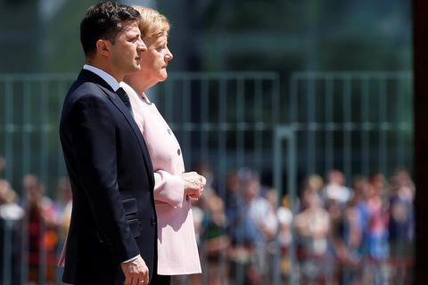Angela Merkel +.Wolodymyr Selenskyj