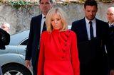 Brigitte Macron besucht das Chatêau du Clos Luce