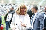 Brigitte Macron besucht ein Charity-Match in Reims