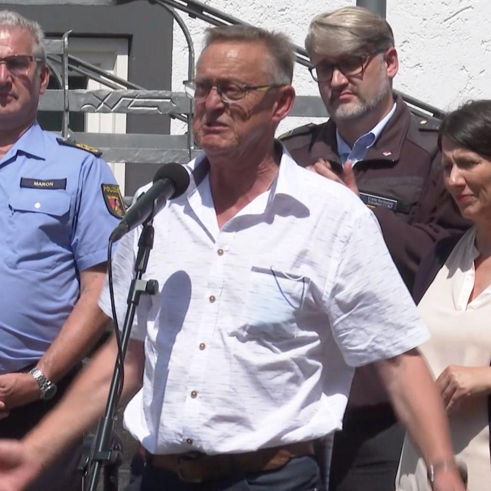 Bürgermeister von Schuld weint um Flutopfer