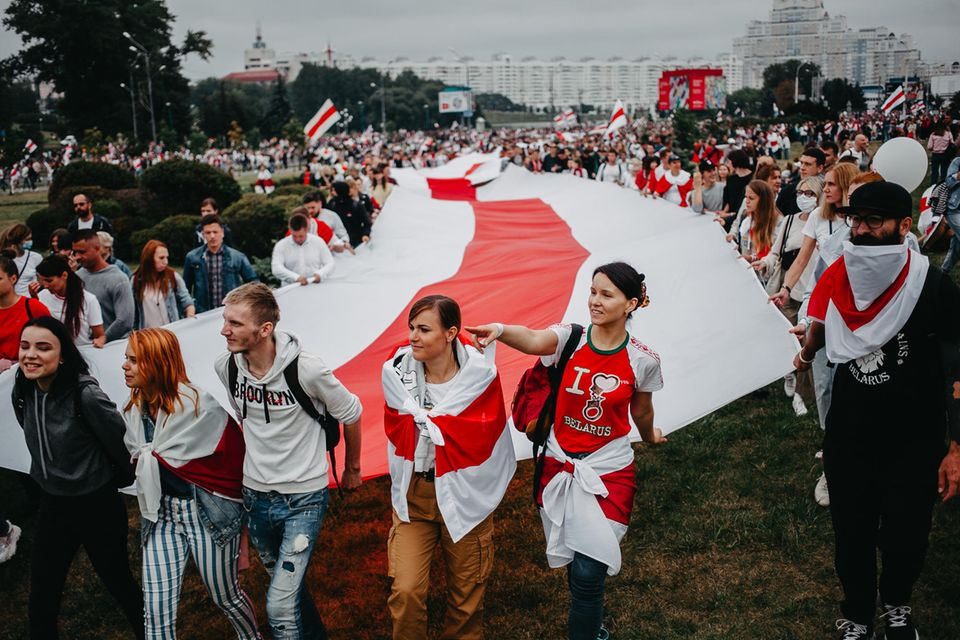 Friedliche Proteste in Belarus