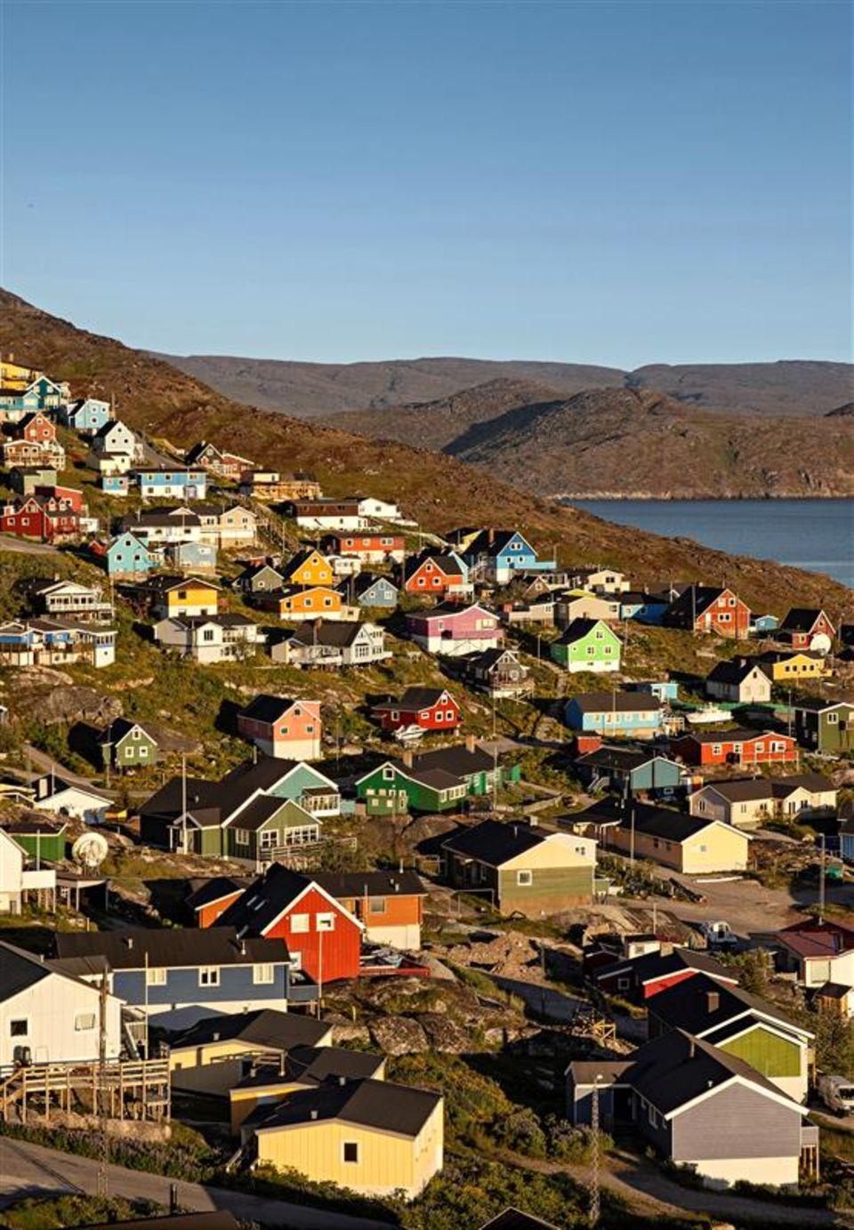 Grönland: Bunte Häuser