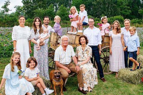Modisches Treffen der Schweden-Royals: Das Lächeln sitzt, die Outfits aber auch