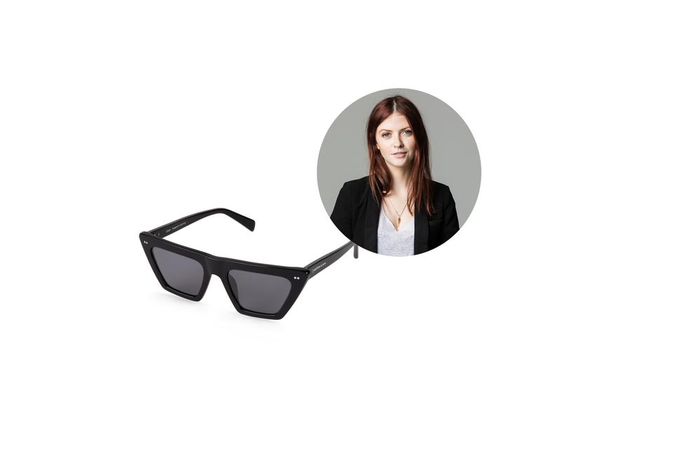 Redakteurin Hannah liebt Cat-Eye-Brillen. Dieses Modell von Kapten & Son hat es ihr besonders angetan.