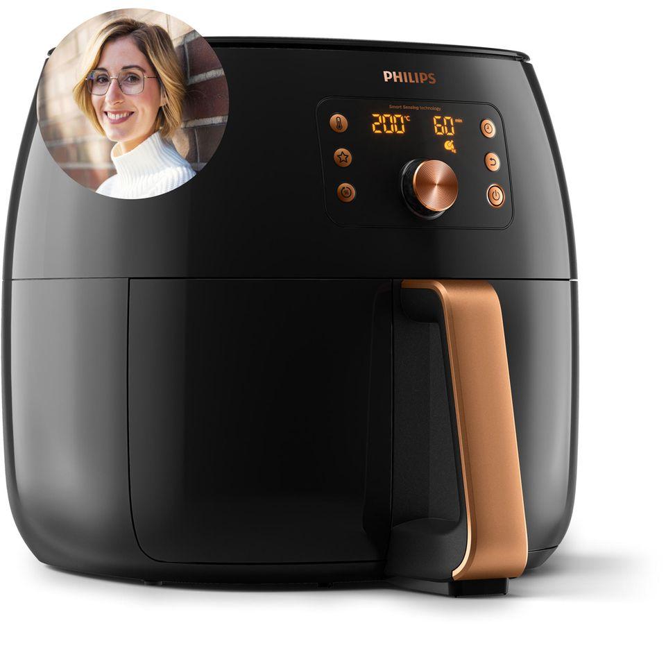 """Viel mehr als """"nur"""" Pommes: Lifestyle-Redakteurin Jenna nutzt den Airfryer nicht nur zum Frittieren, sondern auch zum Backen."""