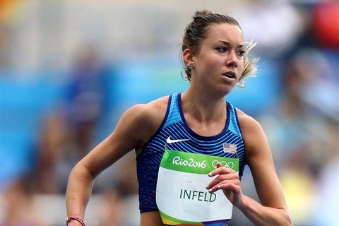 Emily Infeld: Läuferin im Wettkampf bei Olympia