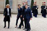 Brigitte Macron empfängt das spanische Königspaar.