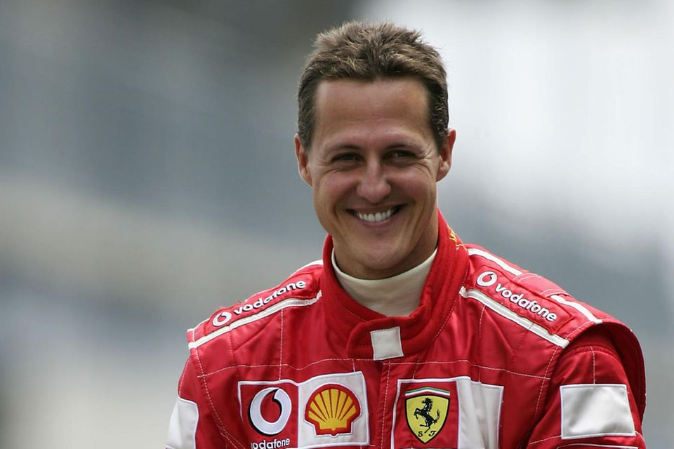 Michael Schumacherwährend des Trainings für den Großen Preis der USA auf dem Indianapolis Motor Speedway Circuit am 18. Juni 2004 in Indianapolis, Indiana.