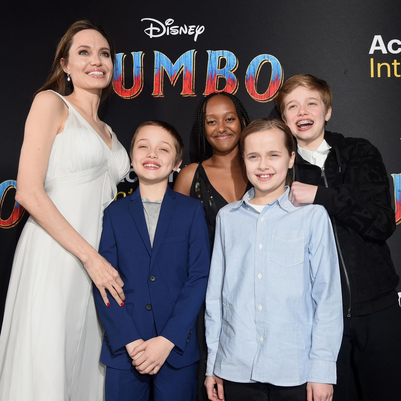 Angelina Jolie mit ihren Kindern