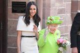Meghan Markle und Queen Elizabeth II bei ihrem ersten gemeinsamen Solo-Auftritt.