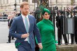Meghan Markle und Prinz Harry bei ihrem letzten offizielen Auftritt als Royals.