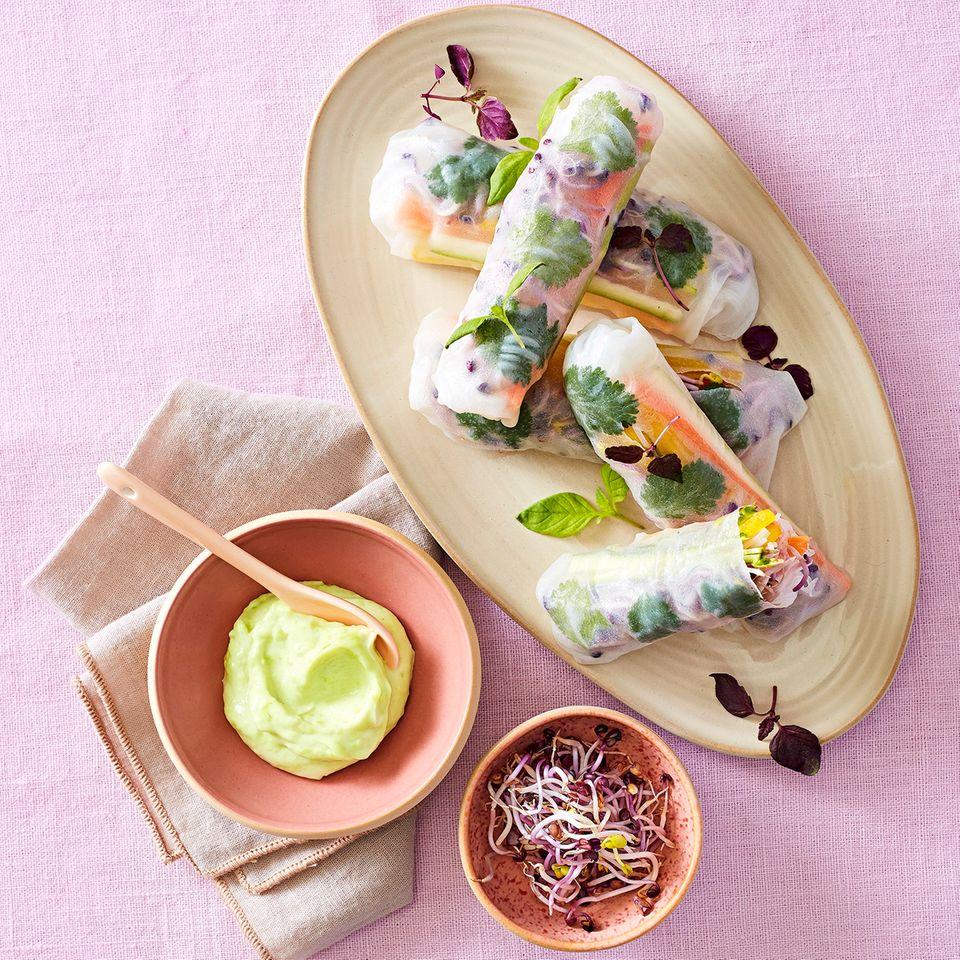 Vegane Sommerrollen mit Wasabi-Mayo