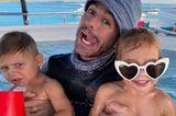 Enrique Iglesias mit seinen Zwillingen