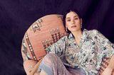 Mustermix: Fashion No-Go oder Trend? Frau im Sessel