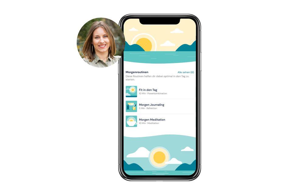Kollegin Lara testet eine App für mehr Kraft im Alltag