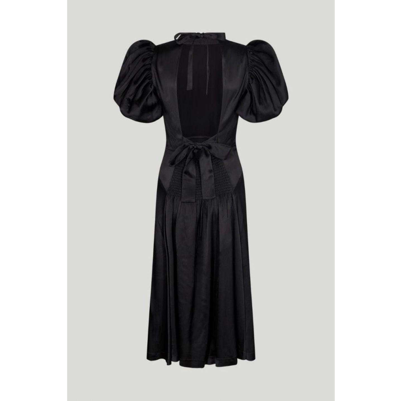 #anyoccasiondress: Schwarzes Kleid mit Rückenausschnitt und Puffärmel