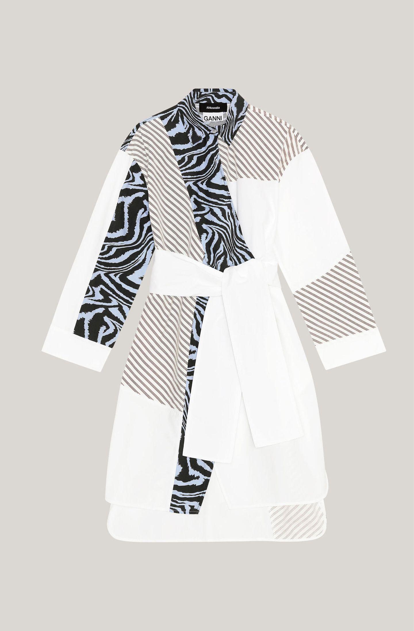 #anyoccasiondress: Hemdkleid mit Patchwork-Elementen