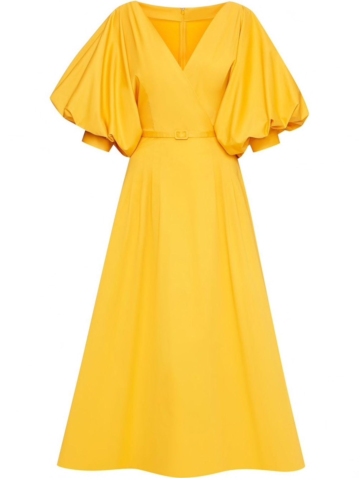 #anyoccasiondress: gelbes Kleid mit Puffärmel