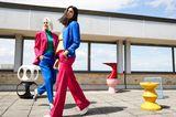 Colourblocking: Dreier-Farbkombination