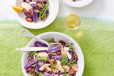 Lauwarmer Hähnchen-Kartoffel-Salat