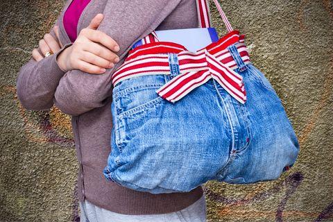 Upcycling-Ideen für Jeans: Jeanstasche