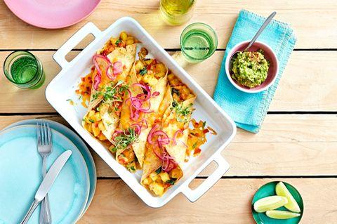 Vegetarische Enchiladas mit Kartoffeln
