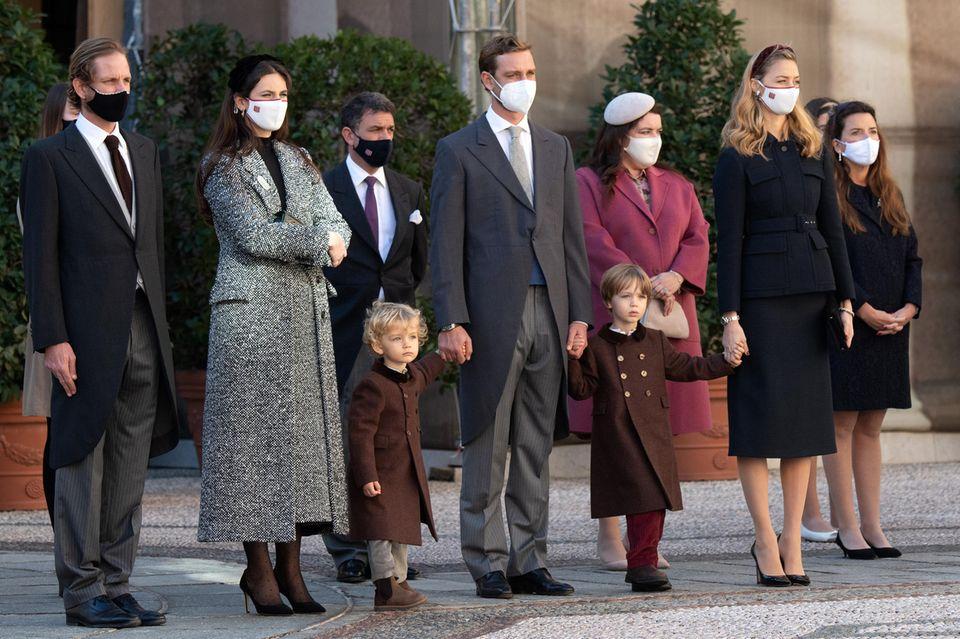 Pierre Casiraghi, Beatrice Borromeo und die Kinder Stefano Casiraghi und Francesco Casiraghi