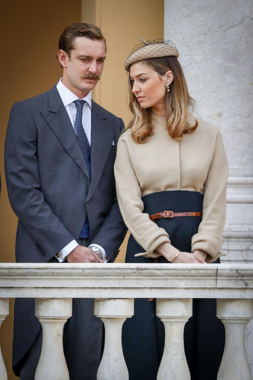 Pierre Casiraghi und Beatrice Borromeo beim Nationalfeiertag in Monaco 2017.