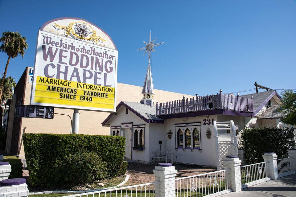 """In der """"Wee Kirk o' the Heather"""" auf dem Las Vegas Boulevard gaben wir uns das Jawort."""