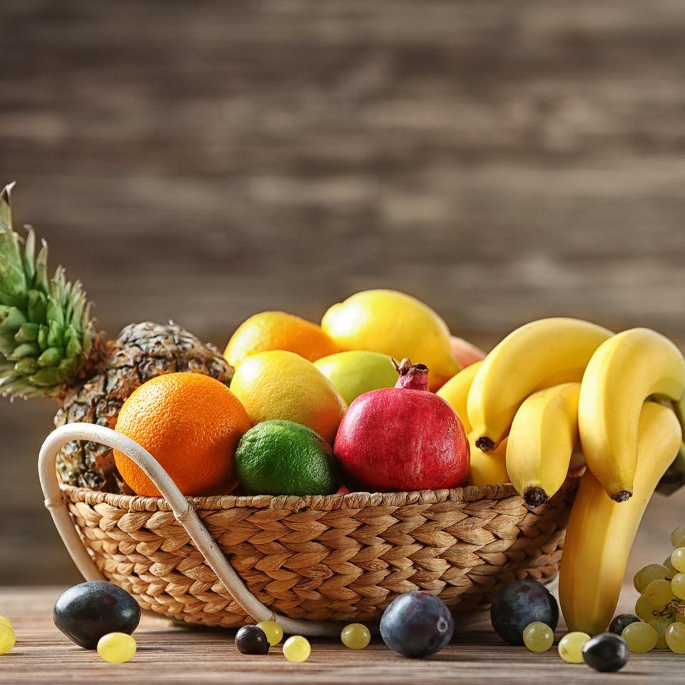 Persönlichkeitstest: Obstkorb mit Früchten