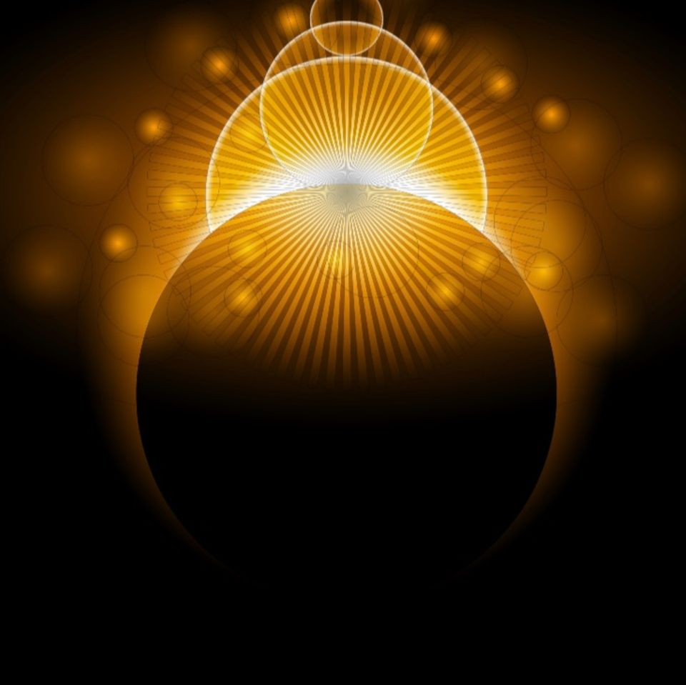 Horoskop für 7.9.2021: Sonne und Mond als Schattenriss