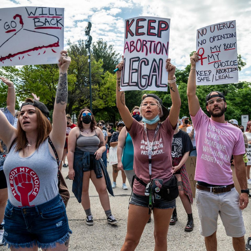 Texas: Demonstration gegen Abtreibungsverbot
