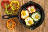Schnelle Nummer: Frühstückseier in Paprika
