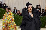 Rihanna undA$AP Rocky zeigen sich im Pärchen-Look bei der Met Gala.