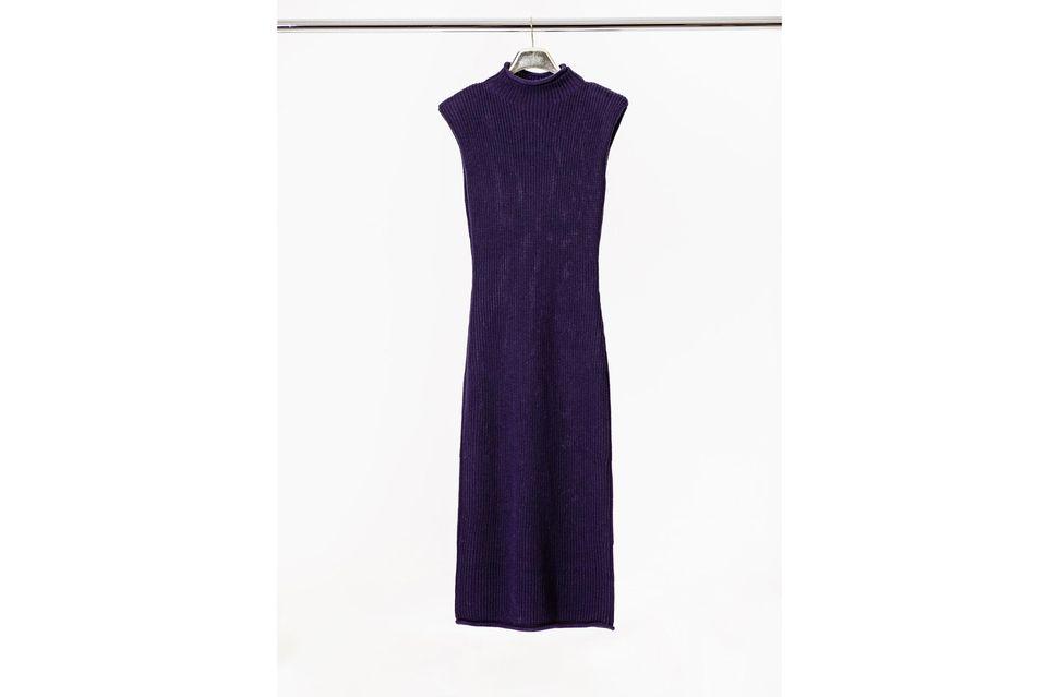 Style Challenge: Strickkleid mit kurzen Armen