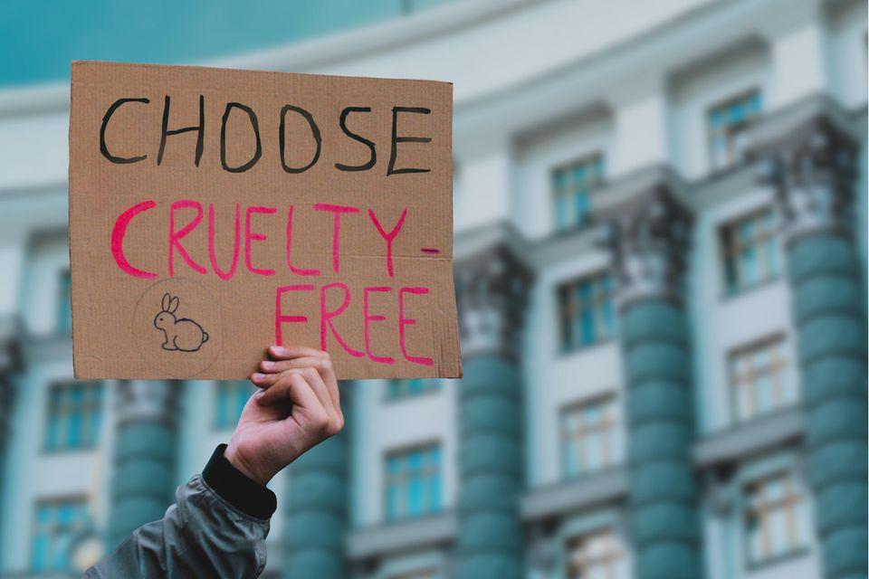 Protest gegen Tierversuche