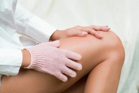 Peelinghandschuh, Massagehandschuh, Massage, schöne Haut