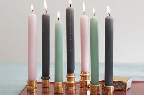 Licht, bitte: Kerzenständer im Industrial Look