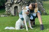 Auszeit: Stefanie Giesinger mit Hund
