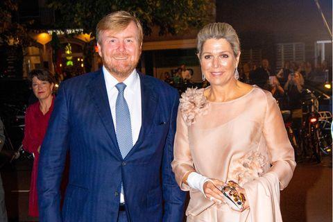 Königin Maxima und König Willem-Alexander auf dem Red Carpet.
