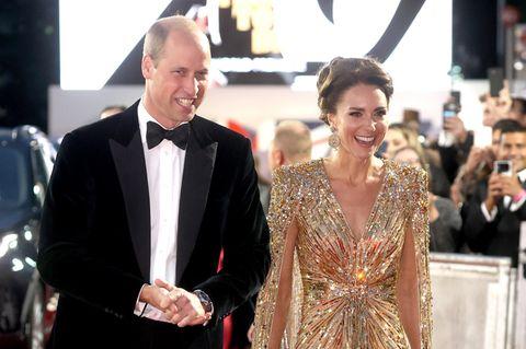 Kate Middleton und Prinz William am roten Teppich