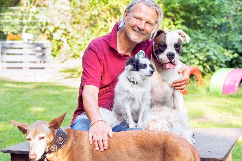 Frank Weber: Der Moderator mit seinen Hunden