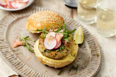 Garnelen Burger mit Limette