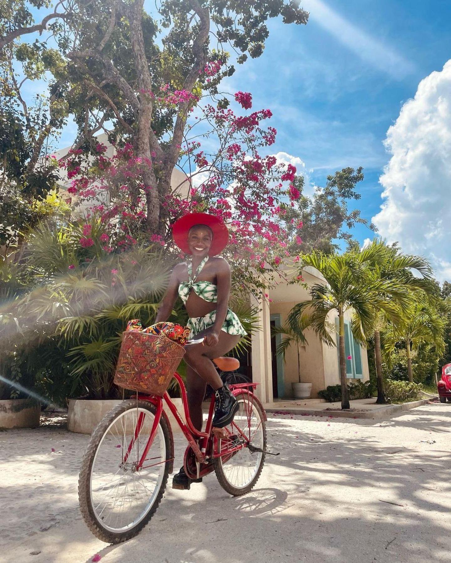 Nikeata Thompson radelt durch Mexiko